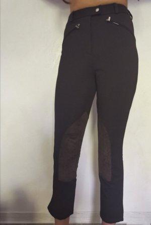 Hermès Pantalon d'équitation brun noir cuir