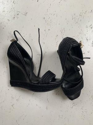 ORIGINAL HUGO BOSS Keilabsatz Sandalen, schwarz, Größe 37