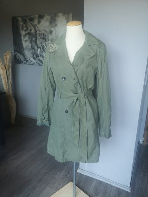 Original HUGO BOSS Trenchcoat GR 38 Mantel neuwertig khaki grün Sommermantel