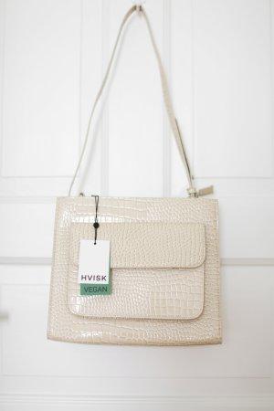 Original Hvisk Tasche Tote Handbag beige offwhite Croc Vegan Cayman Neu mit Etikett