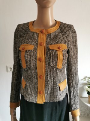 Original Isabel Marant Damen Tweed Jacke Materialmix Größe 38