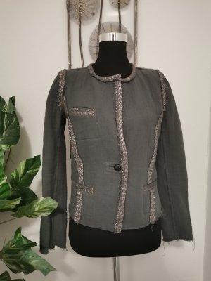 Original Isabel Marant Designer Tweed Jacke Wendejacke Metallisch Größe 38