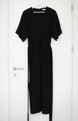Original Ivy & Oak Maxi Wickelkleid Wrap Dress Schwarz Vintage Look Gr. 38 Neu und ungetragen
