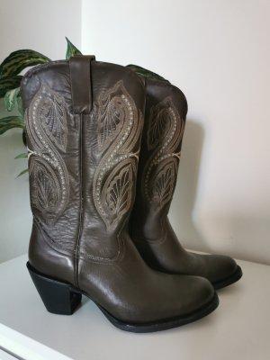 Original Je-Ver Boots Crazy Sonora Cowboystiefel aus Mexico Echtleder Größe 39