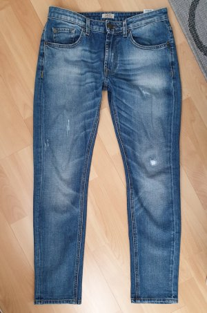 Original Jeans True Religion Grace Slouchy Skinny Destroyed W26 blau