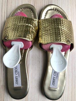 Jimmy Choo Sandalias cómodas color oro
