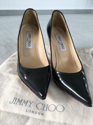 Original Jimmy Choo Lackleder-Pumps schwarz Gr. 36,5