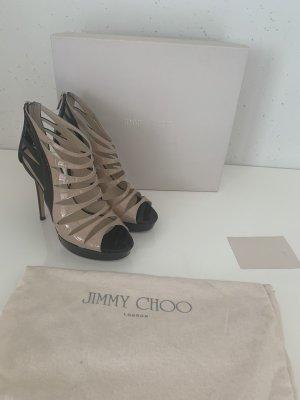 Jimmy Choo Escarpin à plateforme noir-crème cuir