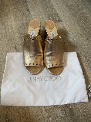 Jimmy Choo Sandalo comodo color oro rosa