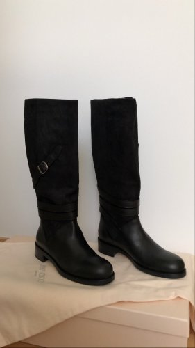 Original Jimmy Choo Stiefel in schwarz
