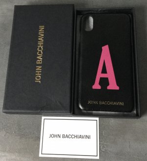 John Bacchiavini Mobile Phone Case black-magenta leather