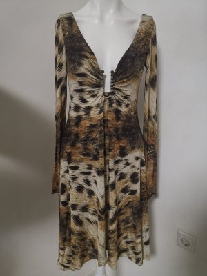 Original Just Cavalli Kleid getigert Tiger Muster Gr 36 S