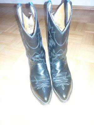 Justin Boots Buty w stylu western biały-czarny