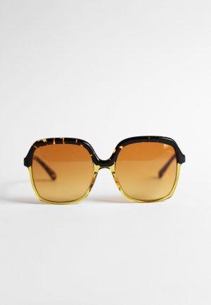 Kaleos Eyehunters Lunettes de soleil rondes jaune foncé-noir acétate