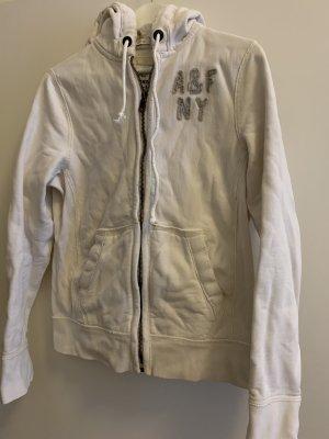 Original Kapuzen Jacke von abercrombie & fitch, Größe small in Creme weiß. Neuwertig, kaum getragen