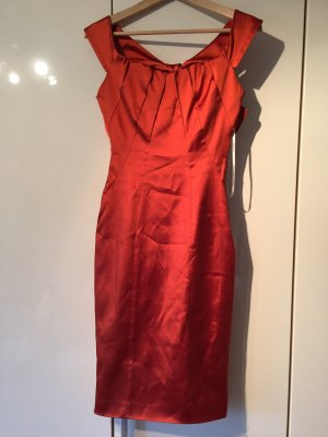 Original Karen Millen Kleid 34/36 orange Kupfer