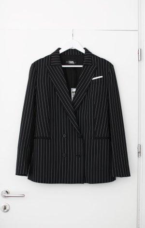Karl Lagerfeld Boyfriend blazer zwart-donkerblauw