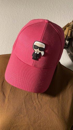 Karl Lagerfeld Baseballówka różowy