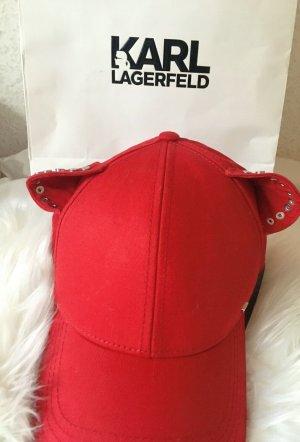 Karl Lagerfeld Berretto da baseball rosso