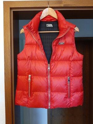 Karl Lagerfeld Piumino smanicato rosso mattone-rosso