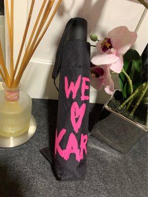 Karl Lagerfeld Paraguas plegable negro-rosa
