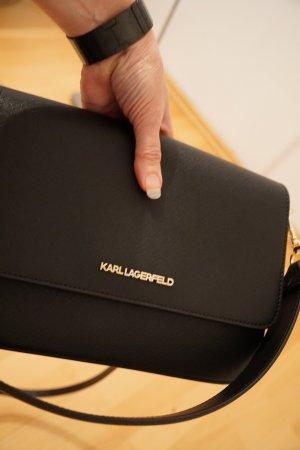 Karl Lagerfeld Handbag black-sand brown polyurethane