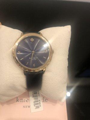 Kate Spade Reloj con pulsera de cuero azul oscuro