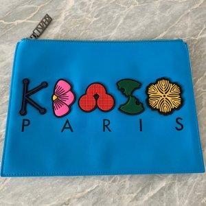 Original KENZO Paris Clutch NEU Handtasche Abendtasche Pochette Blau Blumen