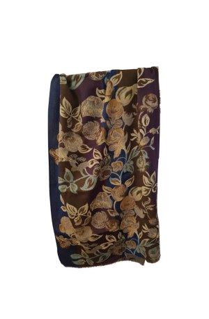 Original Kenzo Vintage Schal aus Wolle Blumenmuster Rosen