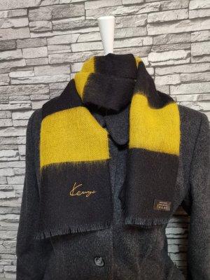 Kenzo Bufanda de lana amarillo pálido-negro Lana