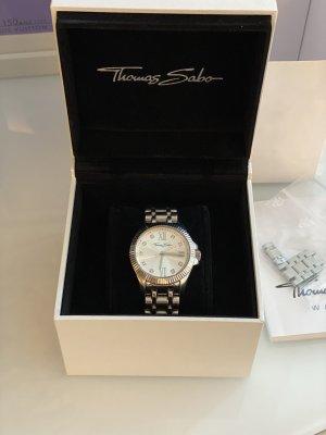 Thomas Sabo Zegarek z metalowym paskiem srebrny