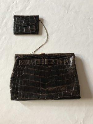 Original Krokodil Clutchbag Vintage 40er Jahre