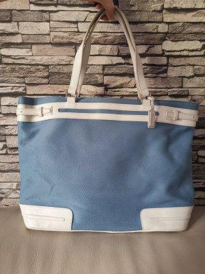 Lacoste Crossbody bag white-azure mixture fibre