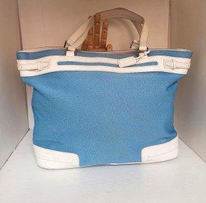 Original Lacoste Tasche blau weiß