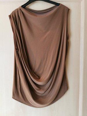 Lanvin Haut avec une épaule dénudée bronze viscose
