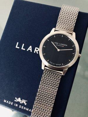 Zegarek analogowy czarny-srebrny