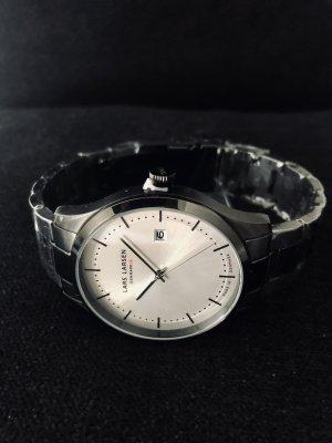 Lars Larsen Design Denmark Montre avec bracelet métallique noir-argenté métal