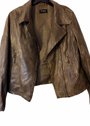 David Moore Leather Jacket multicolored