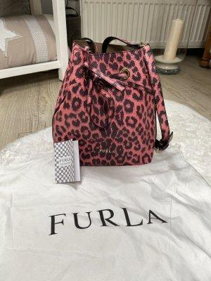 Furla Buideltas roze-zwart Leer