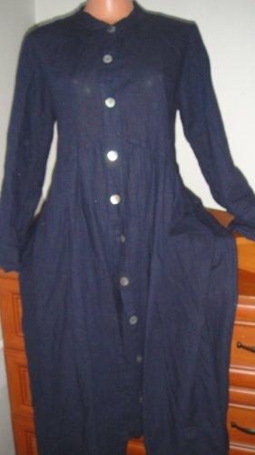 Dori Made in Italy Geklede jurk donkerblauw-leigrijs Linnen