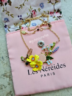 Original Les Néréides Kette Gartenblumen vergoldet neuwertig