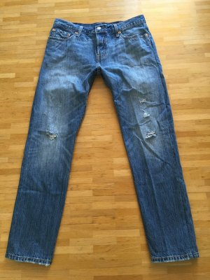 Original Levi's 501 CT destroyed W28 L34 Boyfriend Jeans