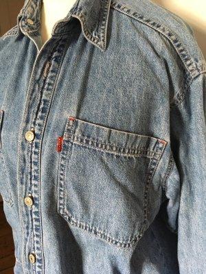 Levi's Spijkershirt blauw Katoen