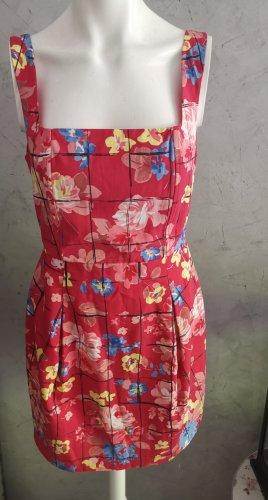 Liu jo Letnia sukienka czerwony Tkanina z mieszanych włókien