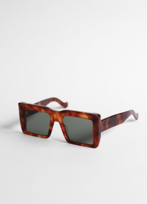Loewe Gafas de sol cuadradas marrón-marrón-negro