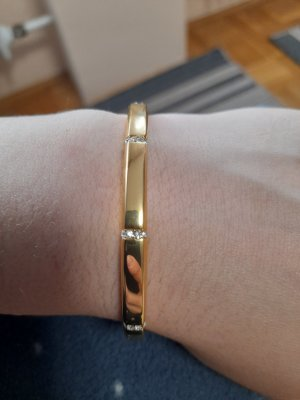 Lotus Bangle gold-colored-white