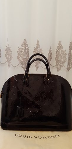 Original Louis Vuitton Alma GM Amarante Vernis Tasche