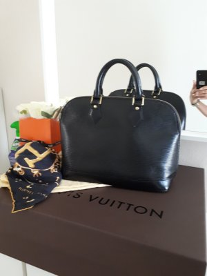 Original LOUIS VUITTON Alma PM Cuir Epi Noir (Kouril-Nachtschwarz)