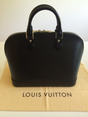 Original Louis Vuitton Alma PM - Epi-Leder, noir