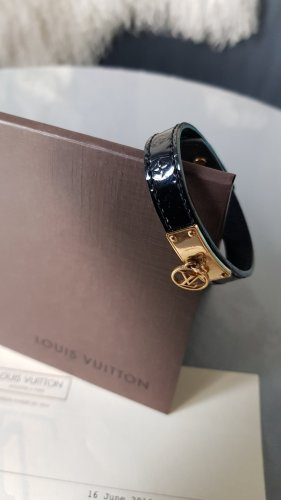 Original Louis Vuitton Armband & Rechnung Logomania Vernis Lackleder